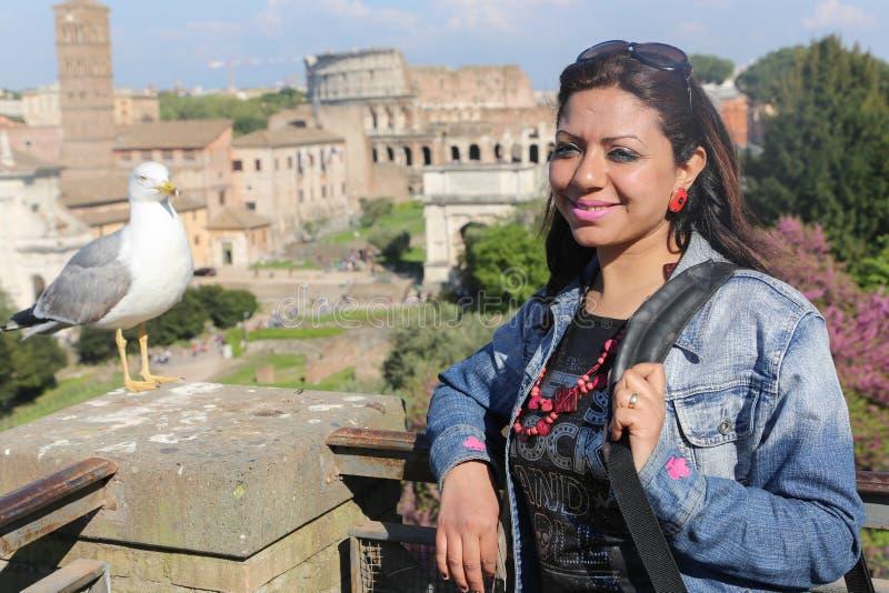 Turista en Roma Italia foto de archivo