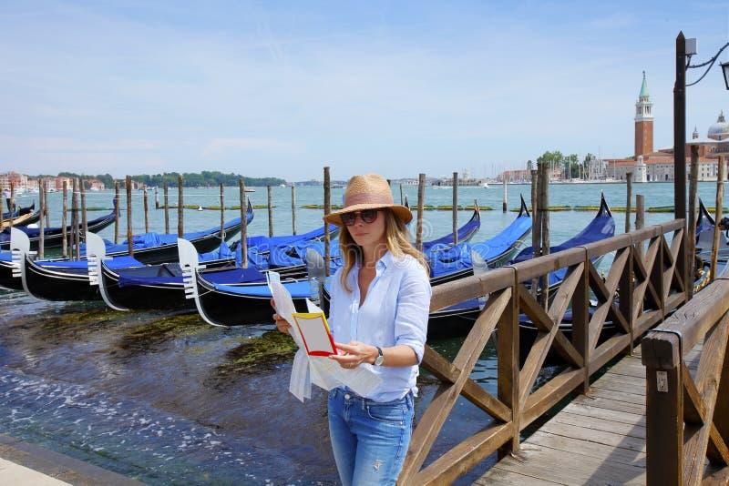 Turista en Venecia fotos de archivo