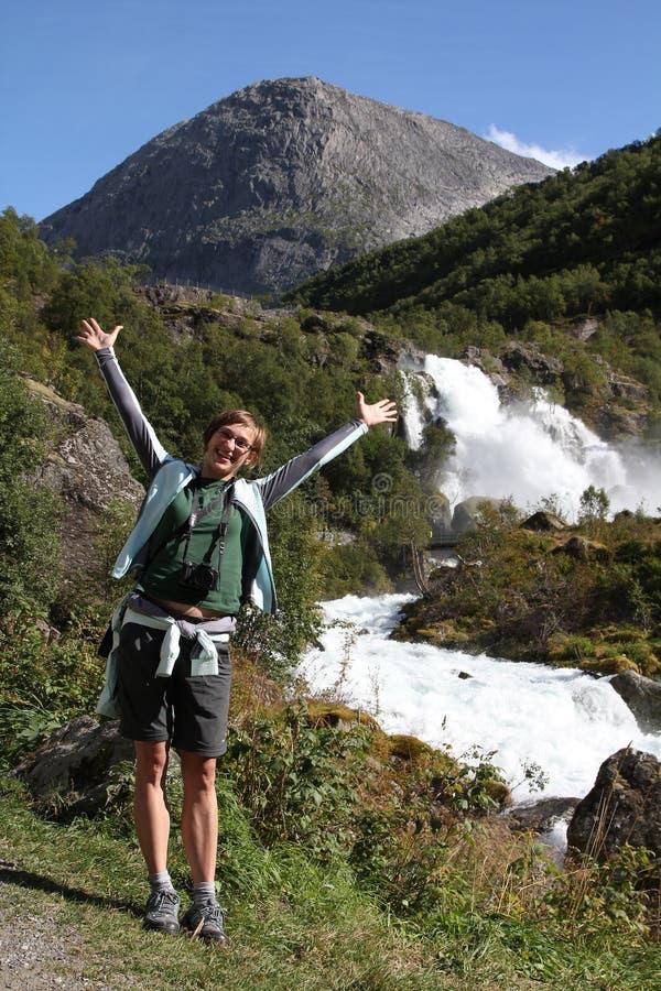 Turista felice fotografia stock