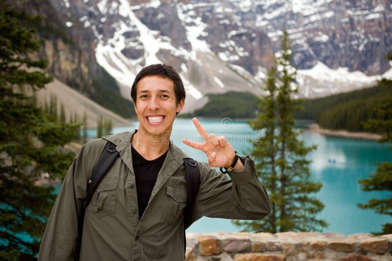 Turista feliz fotos de archivo libres de regalías