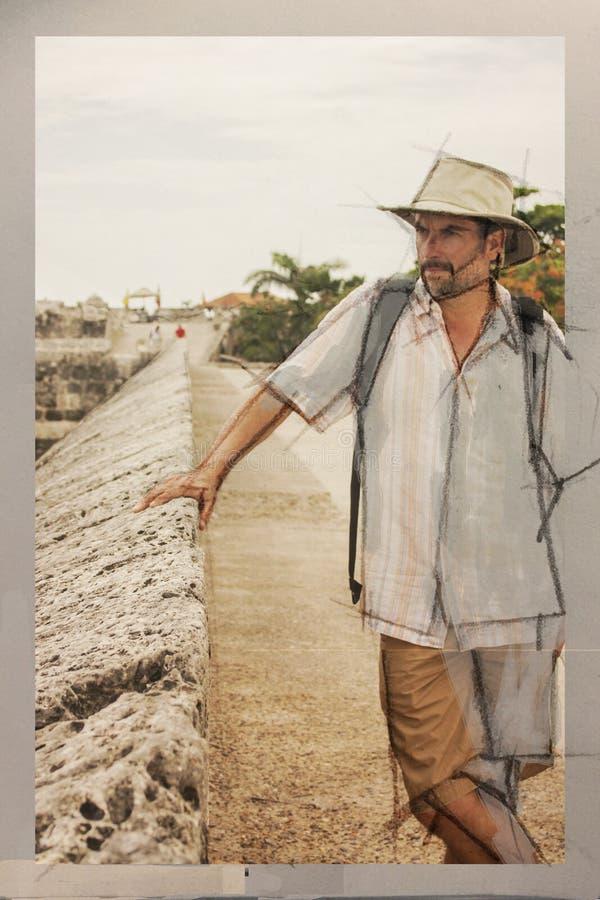 Turista hispánico imágenes de archivo libres de regalías