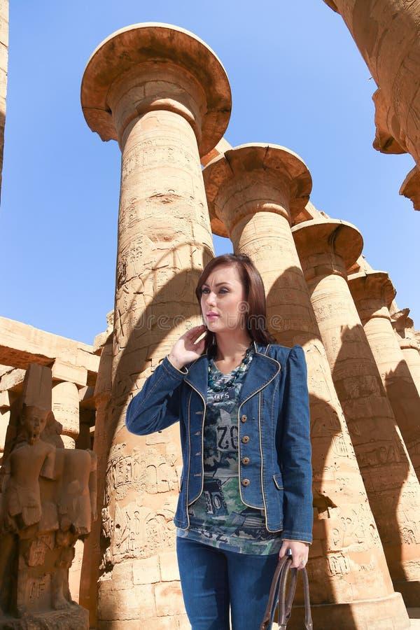 Turista a Luxor - l'Egitto fotografia stock libera da diritti
