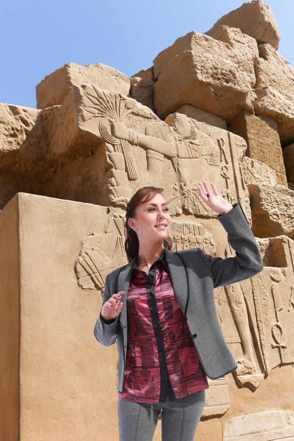 Turista a Luxor - l'Egitto fotografia stock