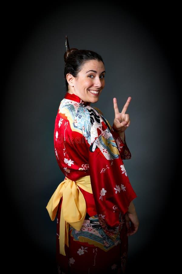 Turista no vestido oriental imagem de stock