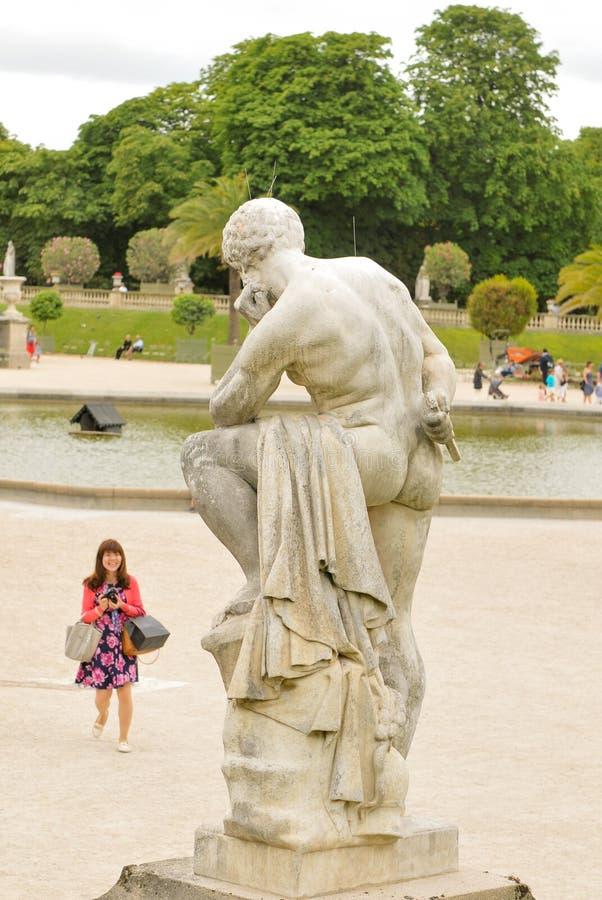 Turista a Parigi fotografie stock