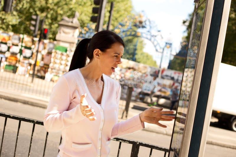 Turista perdido imagem de stock