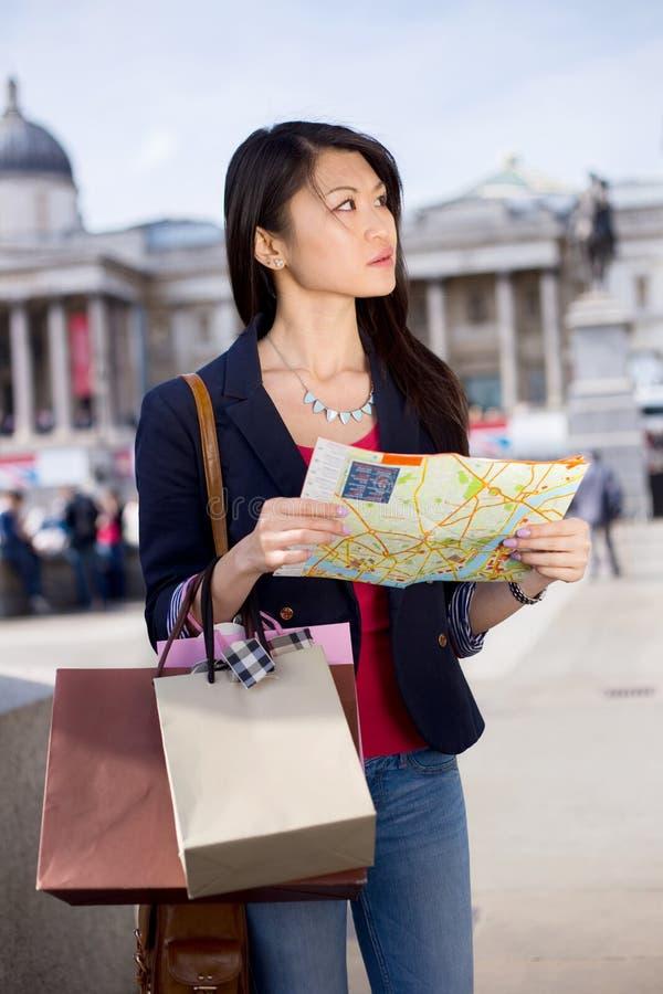 Turista perdido em Londres foto de stock royalty free