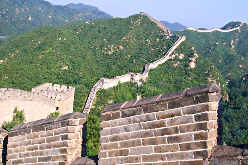 Turista-ponto no Grande Muralha de China foto de stock