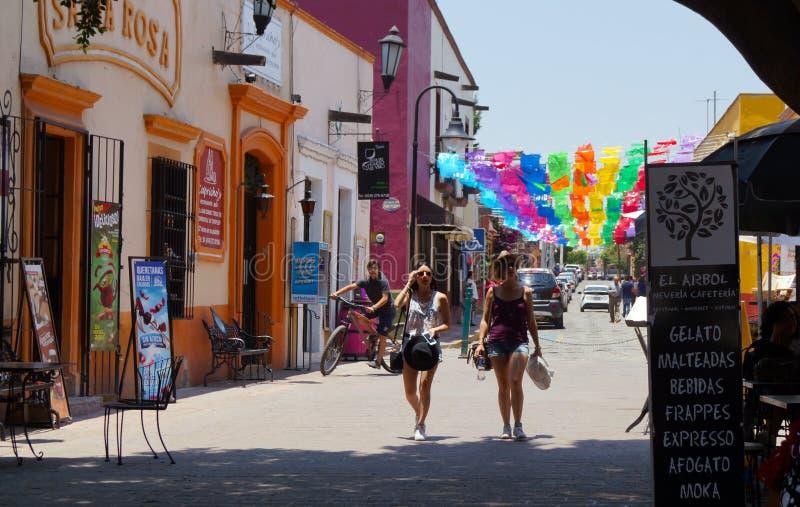 Turista in queretaro tequisquiapan Messico fotografia stock libera da diritti