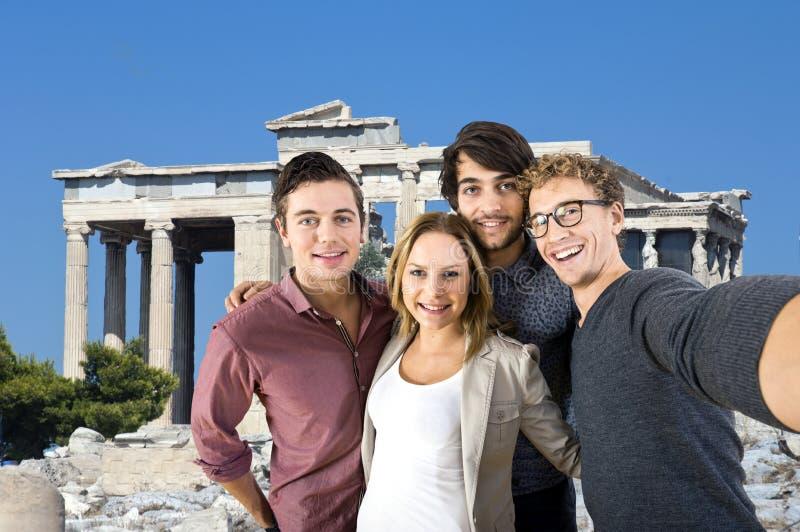 Turista Selfie foto de stock royalty free
