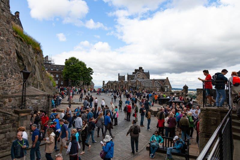 Turista a Stirling Castle fotografia stock libera da diritti