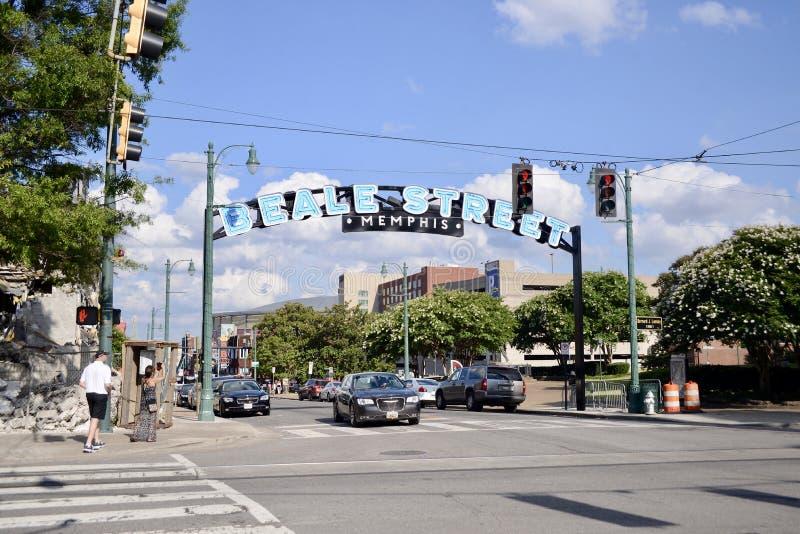 Turista sulla via Memphis, Tennessee di Beale fotografie stock libere da diritti