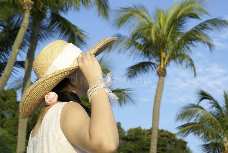 Turista tropicale della signora fotografia stock