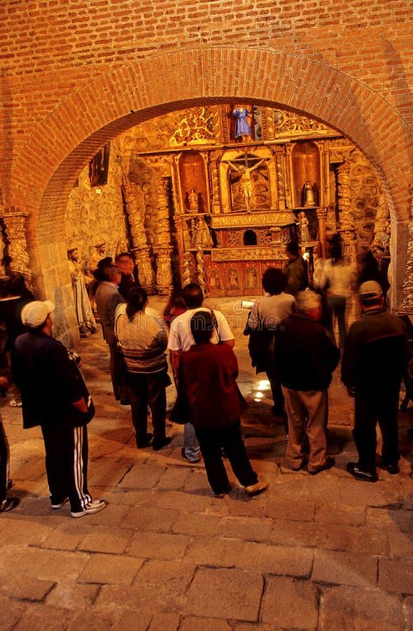 Turistas Bolivia imagen de archivo