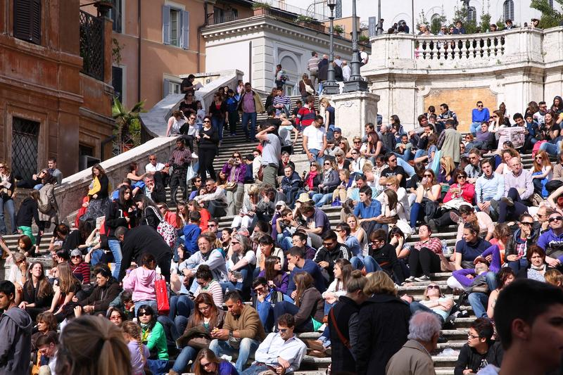 Turistas de Roma fotos de stock