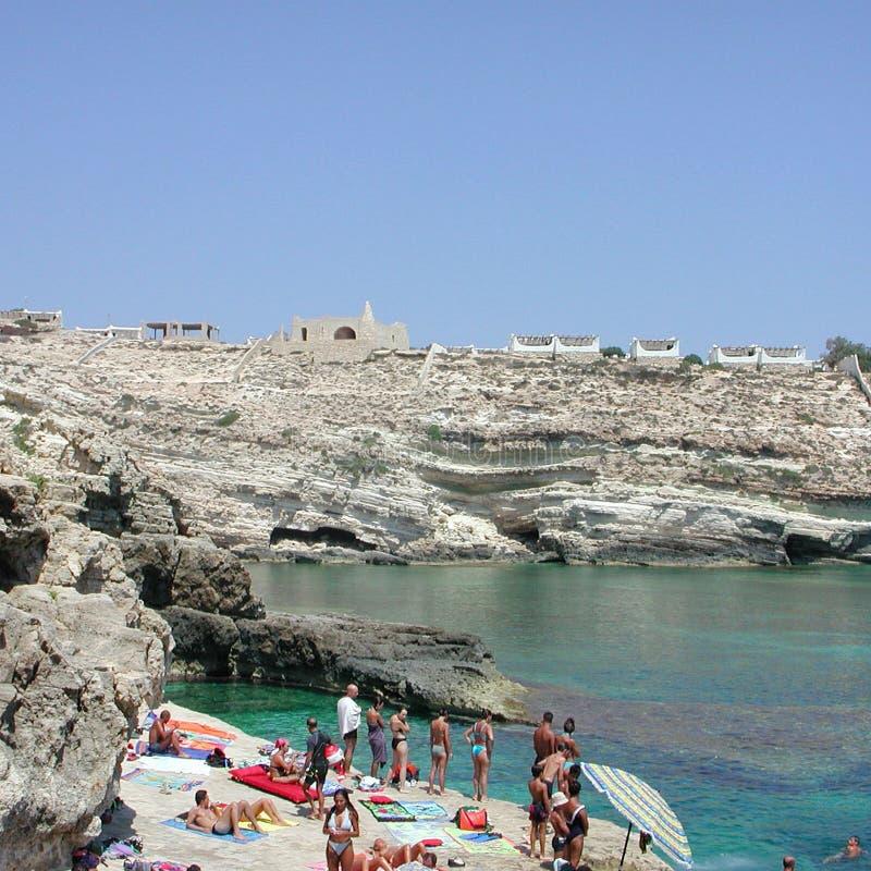 Turistas em Lampedusa fotos de stock