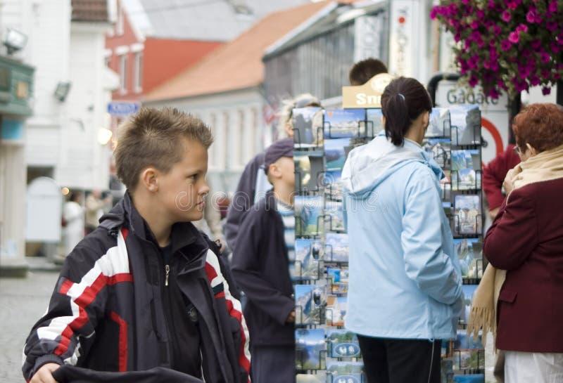 Turistas em Stavanger foto de stock royalty free