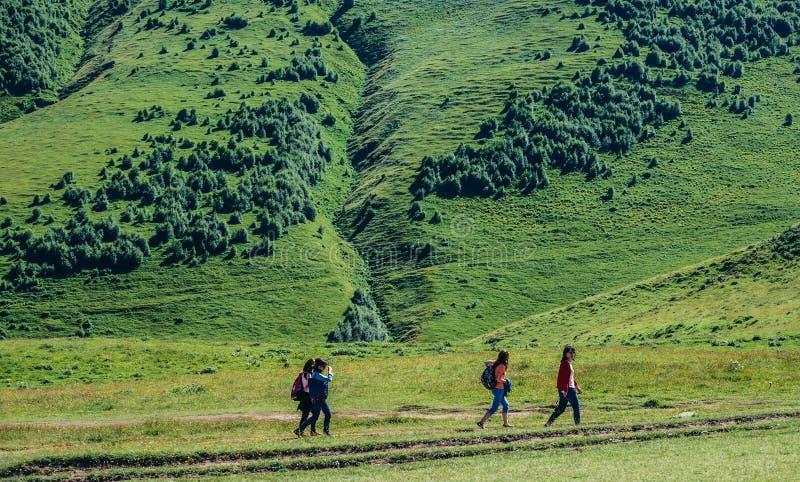 Turistas en Georgia foto de archivo