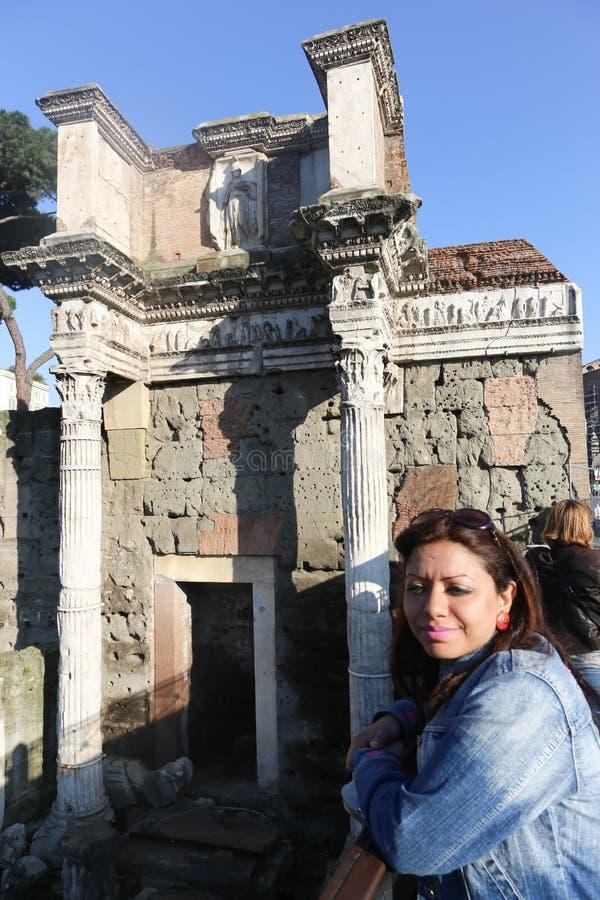 Turistas en Roma fotografía de archivo libre de regalías