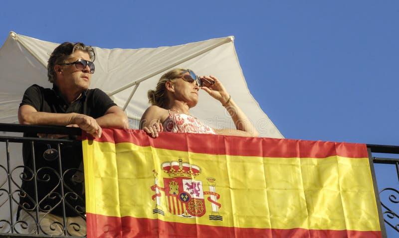 Turistas ingleses en Alicante España imágenes de archivo libres de regalías