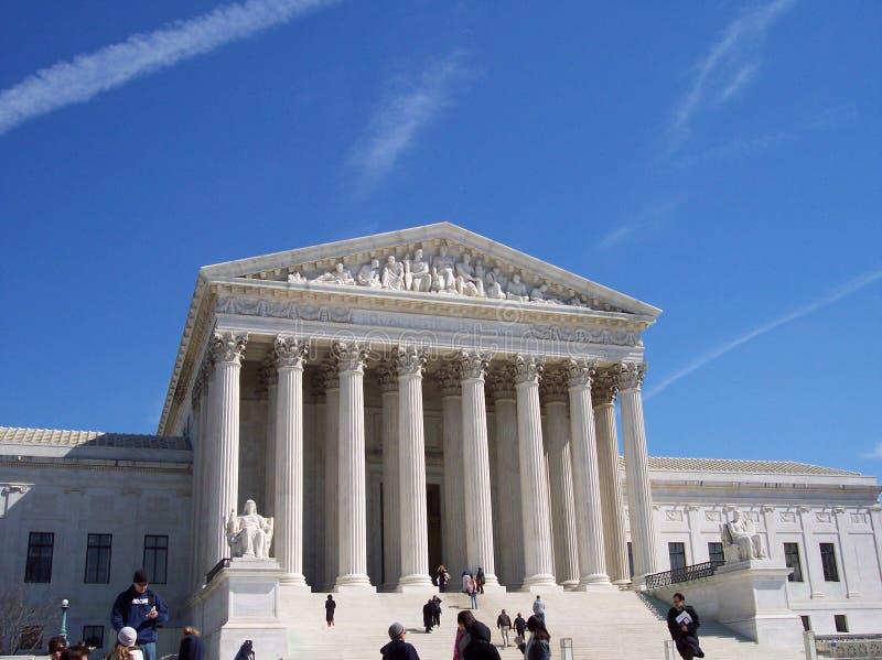 Turistas na corte suprema imagem de stock royalty free
