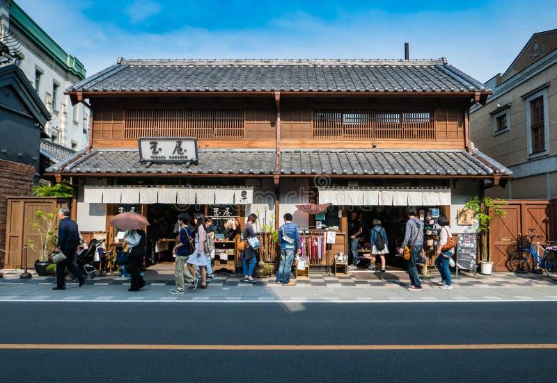 Turistas que visitan la ciudad de Kawagoe imagen de archivo libre de regalías