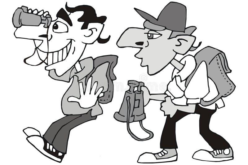 turister vektor illustrationer