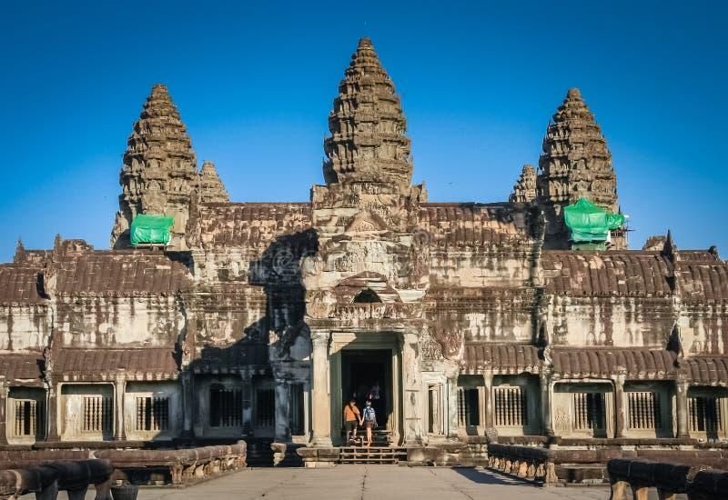 Turisti a Angkor immagine stock libera da diritti