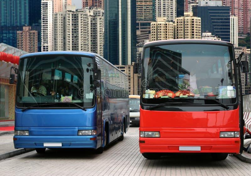 Turisti attendenti del bus fotografia stock