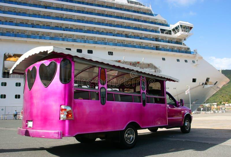 Turisti attendenti del bus immagine stock libera da diritti