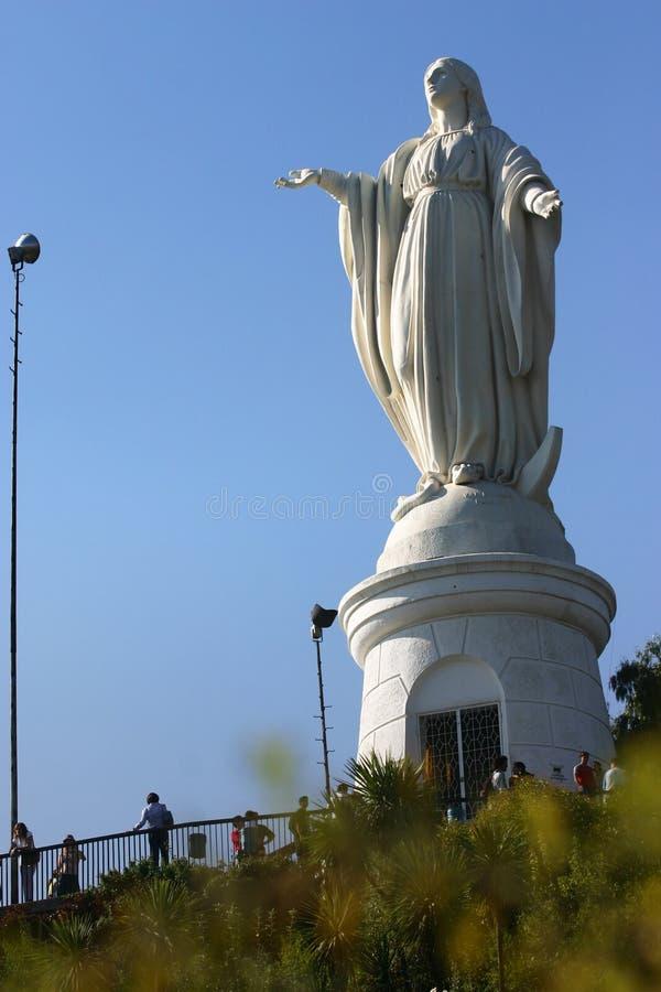 Turisti a Cerro San Cristobal fotografia stock libera da diritti