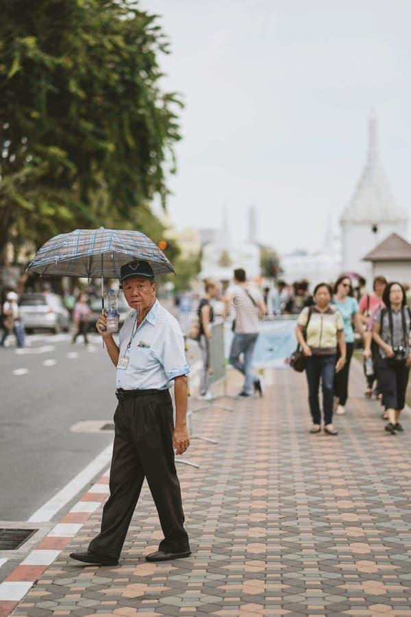 Turisti cinesi che camminano sul sentiero per pedoni fotografie stock libere da diritti