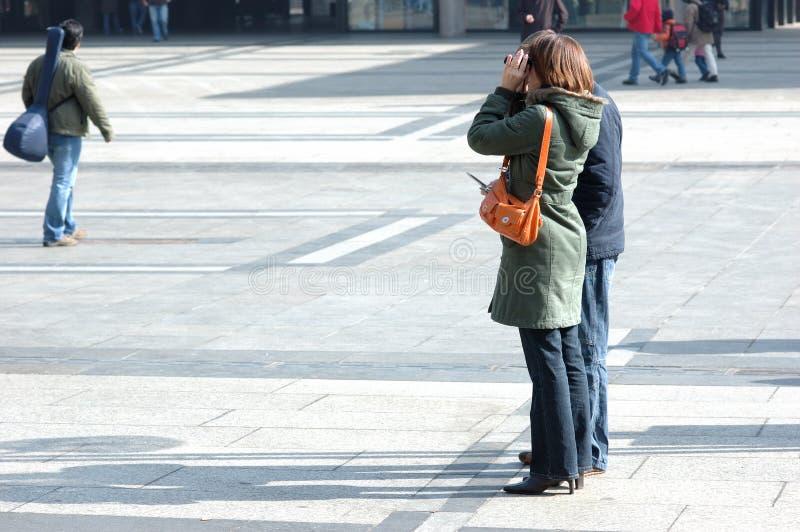 Turisti della foto fotografie stock libere da diritti