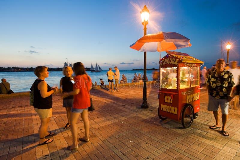 Turisti in Key West immagini stock
