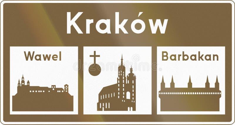 Turistico firmi dentro la Polonia illustrazione vettoriale