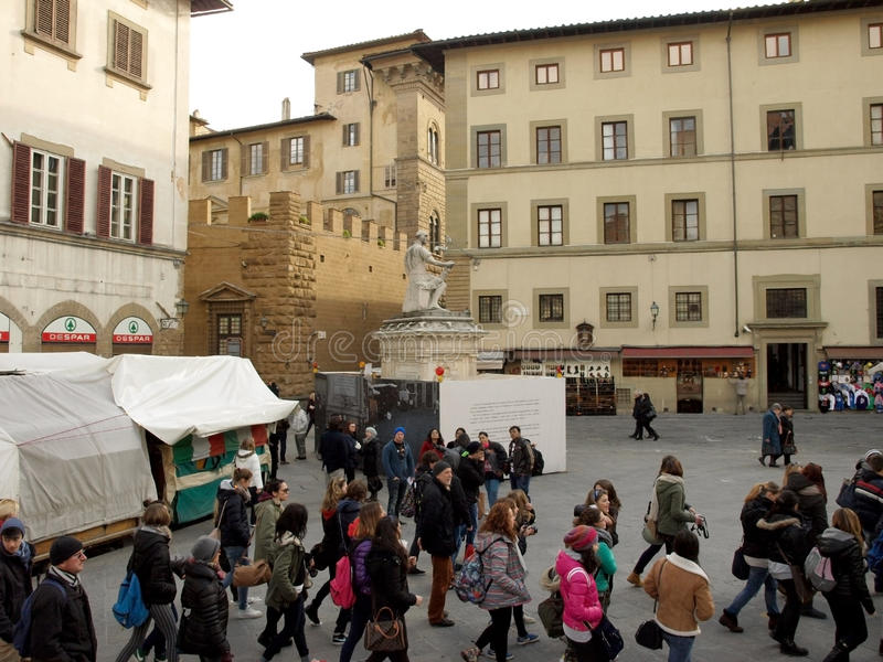 Turists walking on Florence royalty free stock photos
