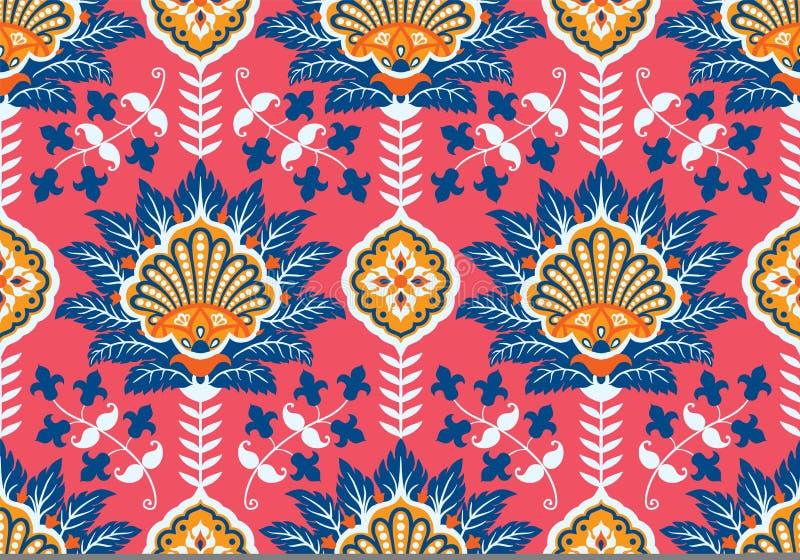 Turk arabiska, afrikan, traditionell sömlös keramisk tegelplatta för islamisk för ottomanvälde era för ` s, blom- modell för vekt stock illustrationer