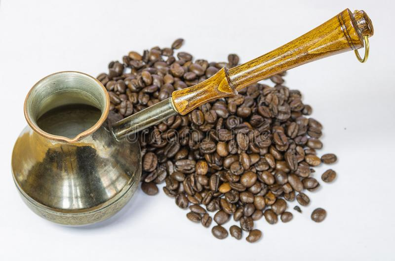 Turk with coffee stock image
