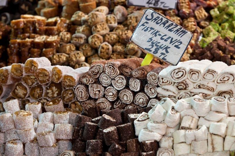 turk för istanbul sötmakalkon arkivbild