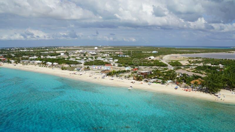 Turk Island grande em Ilhas Turcos e Caicos imagens de stock