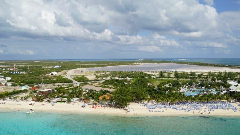 Turk Island grande em Ilhas Turcos e Caicos fotos de stock