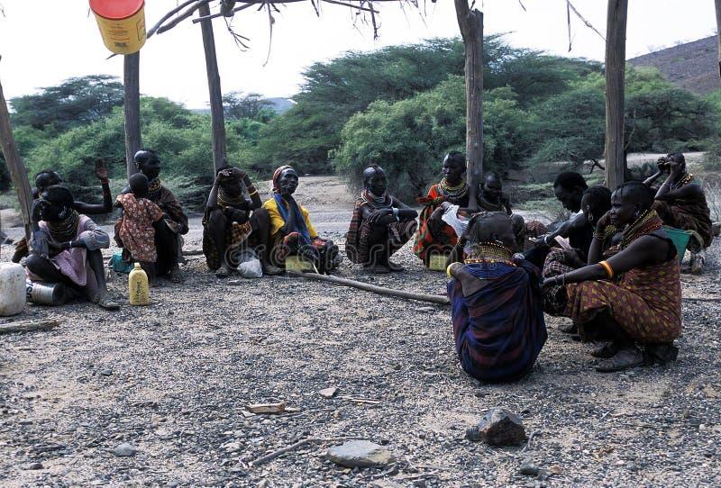 Turkana old women. The old women of the Turkana tribe Kenya. The Turkana are a Nilotic people of Kenya, numbering about 340,000. They inhabit the Turkana stock photos