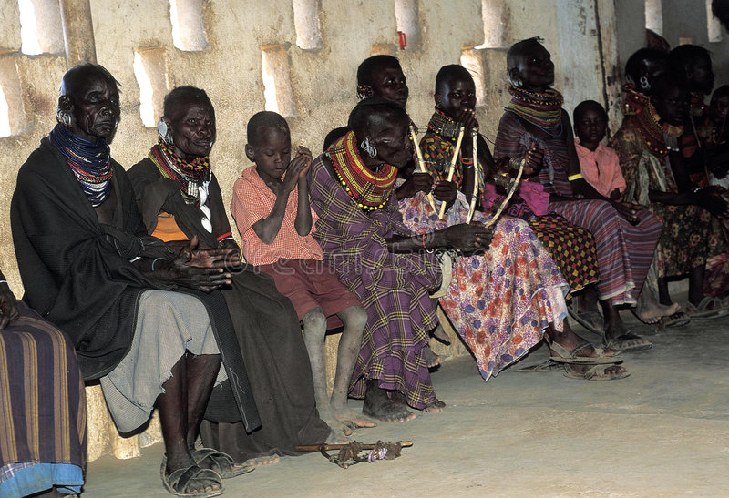 Download Turkana Old Women And Children Editorial Photography - Image: 4664157