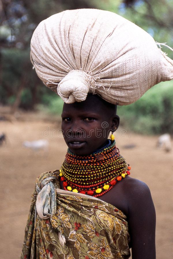 Turkana Woman Portrait Editorial Stock Photo