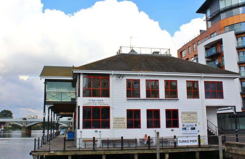 Turken Boatyard in Kingston op Theems Surrey royalty-vrije stock foto