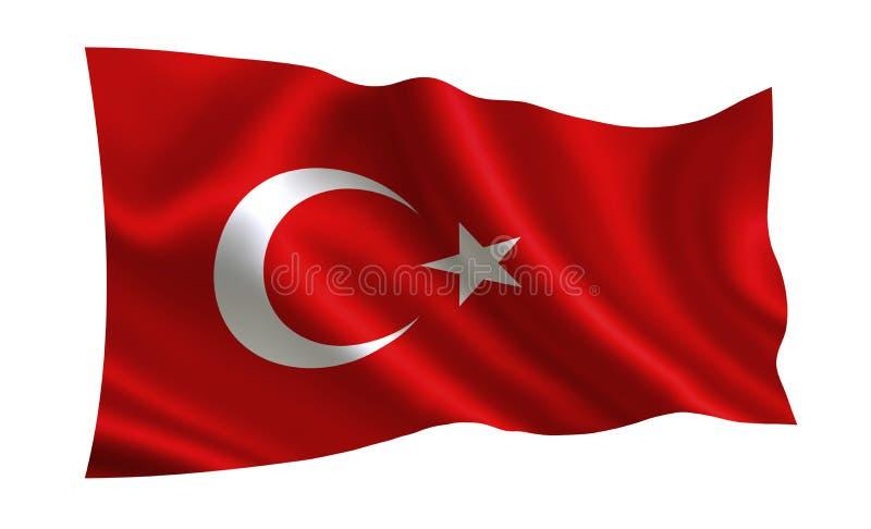 Turken sjunker En serie av `-flaggor av världen ` Landet - Turkiet royaltyfri illustrationer