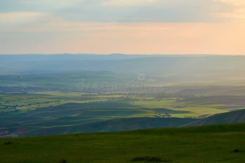 Hills in the foothills in the spring landscape. Turkestan region. Kazakhstan. Asia. stock image