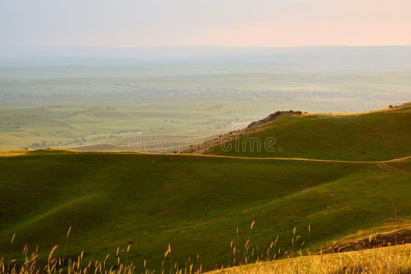 Nature Landscape of Turkestan region. Kazakhstan. On the Sunset. stock image
