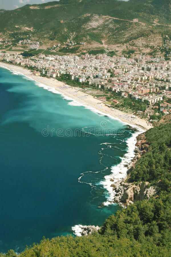 Turkey, Alanya city and beach royalty free stock photography
