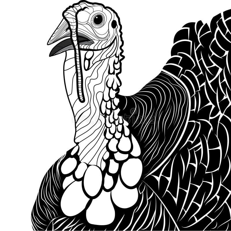 Download Turkey Bird Head As Thanksgiving Symbol Stock Vector - Illustration: 34483815